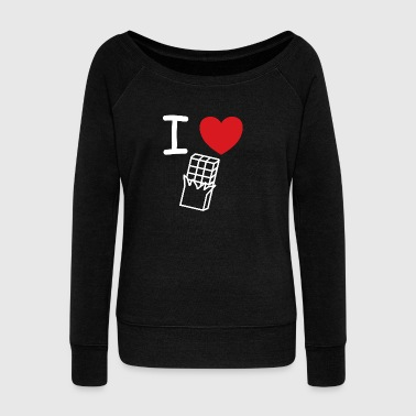 I love chocolate shop gift idea - Women's Boat Neck Long Sleeve Top