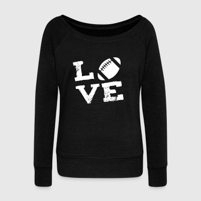 American football player sports love gift - Women's Boat Neck Long Sleeve Top
