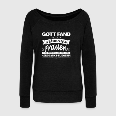 Aerobatic shirt god found - Women's Boat Neck Long Sleeve Top