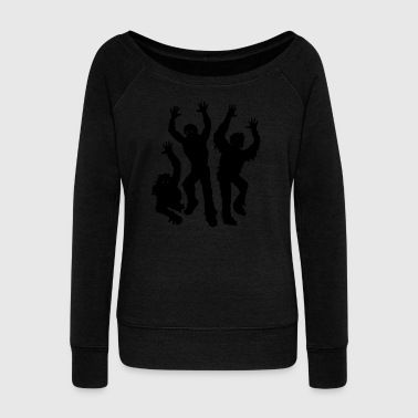 Zombie Apocalypse - Women's Boat Neck Long Sleeve Top