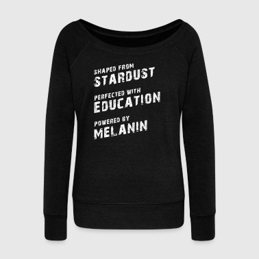 Stardust Education Melanin Black Pride - Women's Boat Neck Long Sleeve Top