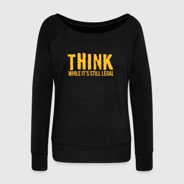 Think while it's style legal - Frauen Pullover mit U-Boot-Ausschnitt von Bella