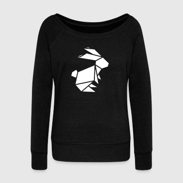 origami hare - Women's Boat Neck Long Sleeve Top