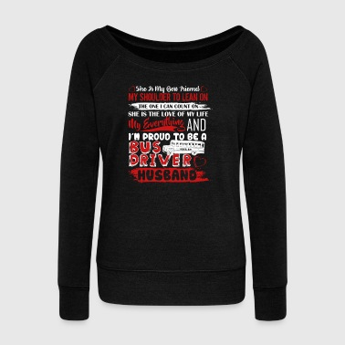 For Bus Driver Husbands Shirt - Women's Boat Neck Long Sleeve Top