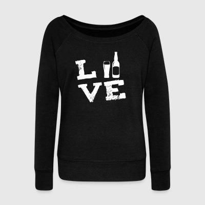 Beer Alcohol Beer Brewer Brew Party Love Gifts - Women's Boat Neck Long Sleeve Top