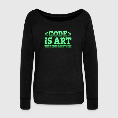 Funny Programmer T-Shirt - Women's Boat Neck Long Sleeve Top