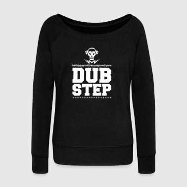 Dubstep music electric bass - Women's Boat Neck Long Sleeve Top