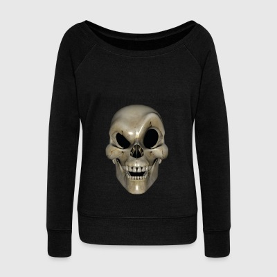 Smart Skull - Women's Boat Neck Long Sleeve Top