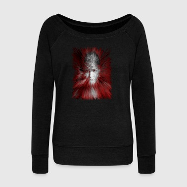 Gloria red - Women's Boat Neck Long Sleeve Top