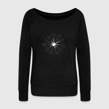 Spider on its web - Women's Boat Neck Long Sleeve Top