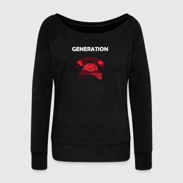 Generation phone birth year of birth gift idea - Women's Boat Neck Long Sleeve Top