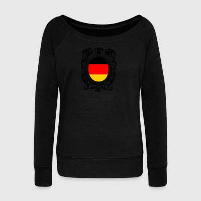 Germania shirt Germania bandiera tedesca - Felpa con scollo a barca da donna, marca Bella