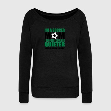 football mother - Women's Boat Neck Long Sleeve Top