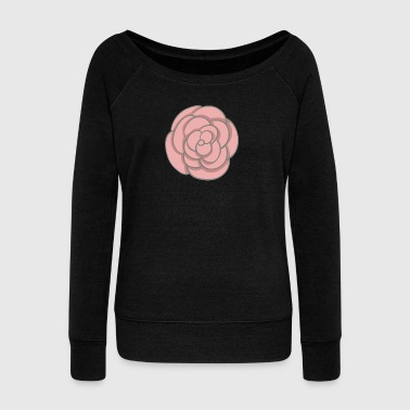 rose - Women's Boat Neck Long Sleeve Top
