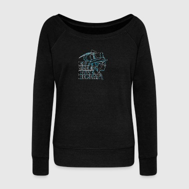 Eat rave repeat - Women's Boat Neck Long Sleeve Top