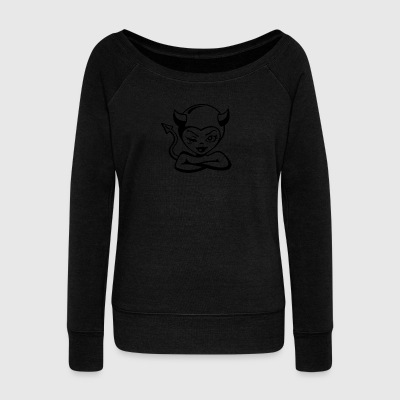 Little devil - Women's Boat Neck Long Sleeve Top