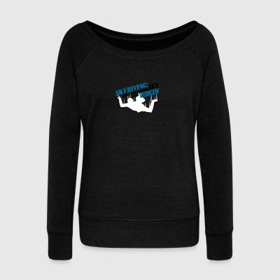 skydiving - Women's Boat Neck Long Sleeve Top