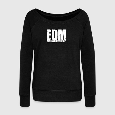 EDM by Kaotika - Women's Boat Neck Long Sleeve Top