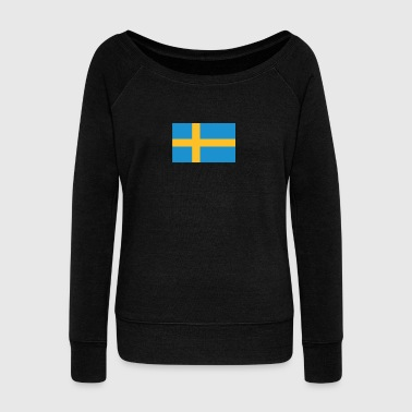 National Flag Of Sweden - Women's Boat Neck Long Sleeve Top