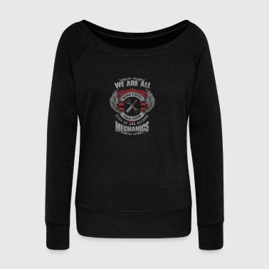 All are born equal mechanic - Women's Boat Neck Long Sleeve Top