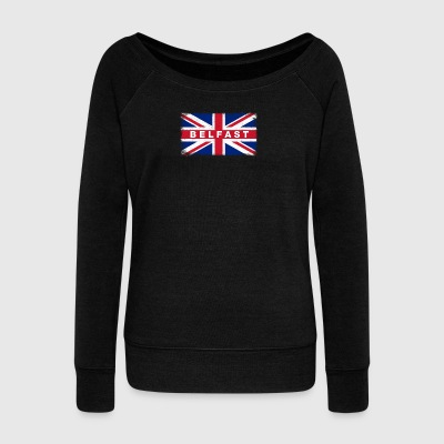 Belfast Shirt Vintage United Kingdom Flag T-Shirt - Women's Boat Neck Long Sleeve Top