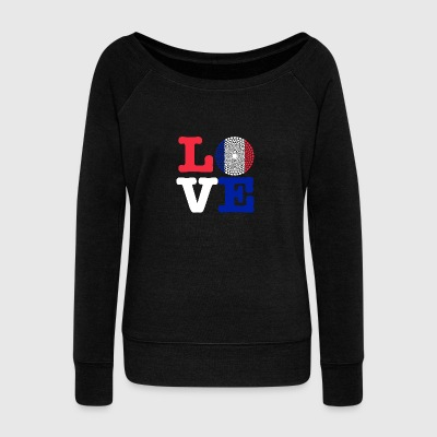 FRANCE HEART - Women's Boat Neck Long Sleeve Top