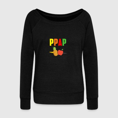 Apple pen Pineapple pen PinePineapple apple pen - Women's Boat Neck Long Sleeve Top