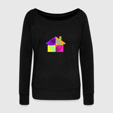 House Music - Women's Boat Neck Long Sleeve Top