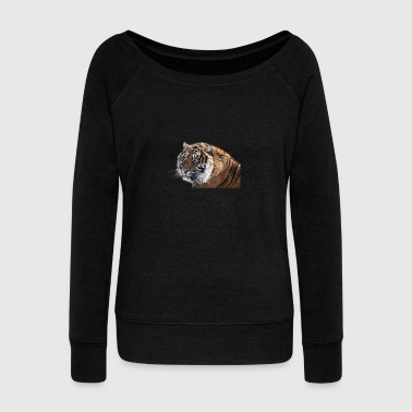 Bengal tiger - Women's Boat Neck Long Sleeve Top