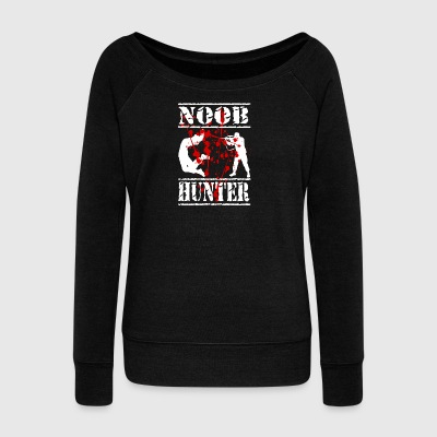 The gaming and paintball shirt Noob hunter - Women's Boat Neck Long Sleeve Top
