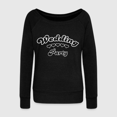 wedding party  - Women's Boat Neck Long Sleeve Top