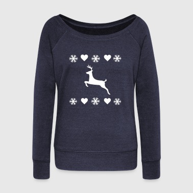 Christmas  - Women's Boat Neck Long Sleeve Top