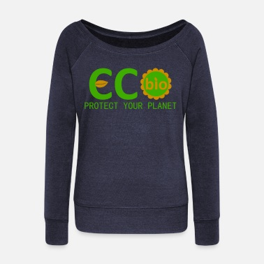 Planet eco bio protect your planet - Pull Femme col bateau de Bella