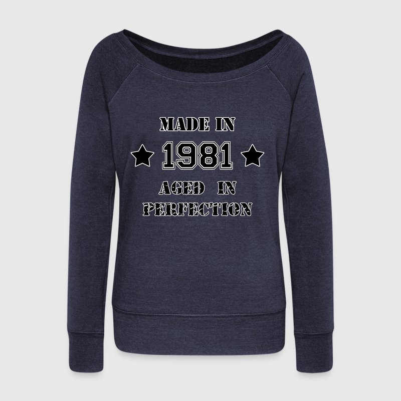 Made in 1981 - Women's Boat Neck Long Sleeve Top