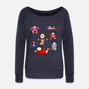 Collection For Kids Scribble Kids Collection - Women's Wide-Neck Sweatshirt