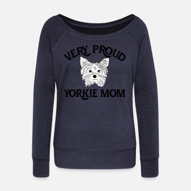 Yorkshire Very Proud Yorkie Mom - Women's Boat Neck Long Sleeve Top