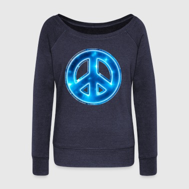 Space Peace, star, galaxy, symbol, universe, free - Women's Boat Neck Long Sleeve Top