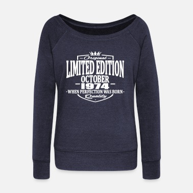 October Limited edition october 1974 - Women's Boat Neck Long Sleeve Top