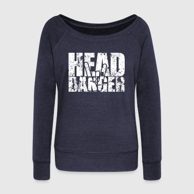 The headbanger - Women's Boat Neck Long Sleeve Top