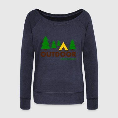 Outdoor Adventure Camp - Pull Femme col bateau de Bella