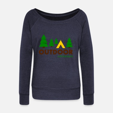 Outdoor Outdoor Adventure Camp - Pull Femme col bateau de Bella