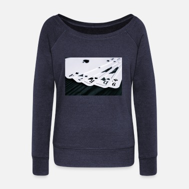 Cards cards - Women's Boat Neck Long Sleeve Top