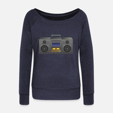 Boombox Boombox - Women's Boat Neck Long Sleeve Top