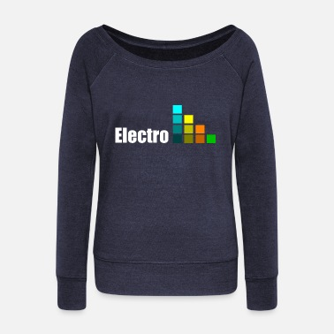 Electro Electro - Women's Boat Neck Long Sleeve Top