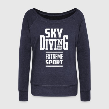 Skyrim Sky Diving - Women's Boat Neck Long Sleeve Top