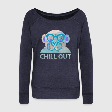 chill out  - Women's Boat Neck Long Sleeve Top