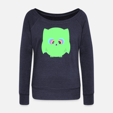 HypnoticOwl - Women's Boat Neck Long Sleeve Top