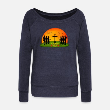 Remembrance Remembrance Day - Women's Wide-Neck Sweatshirt