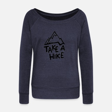 Hike Hiking Hiking - Women's Boat Neck Long Sleeve Top