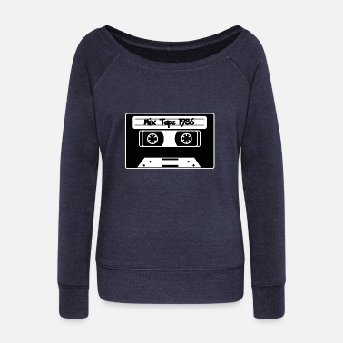 Oldschool Cassette oldschool - Women's Boat Neck Long Sleeve Top